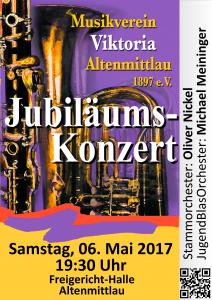 Plakat zum Jubiläumskonzert 2017