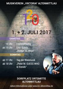 Plakat Jubiläumsfest 2017