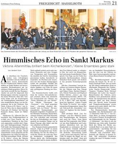 Konzertkritik in der GNZ (23.01.2018)