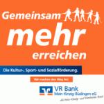 Unterstützt von der VR Bank Main-Kinzig-Büdingen eG
