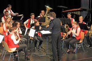 Das JBO auf der Bühne des 6. Hessischen Wettbewerbs für Jugendorchester