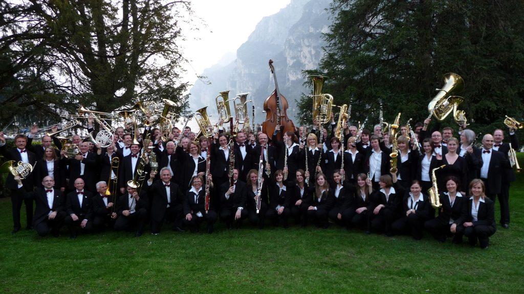 Das sinfonische Blasorchester des MVA beim Flicorno d´Oro 2010 in Rival del Garda
