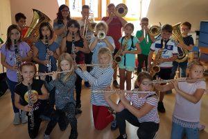 Die 2019 neu formierte Bläserklasse »Junior Band«